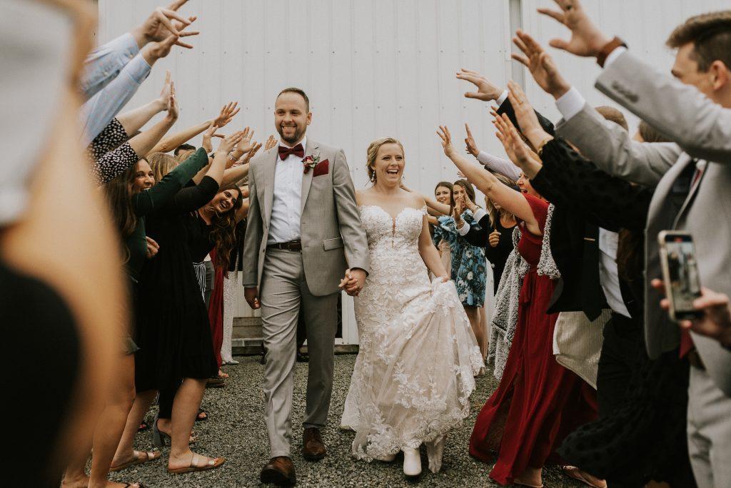 elkhart indiana, farm wedding, send off photos