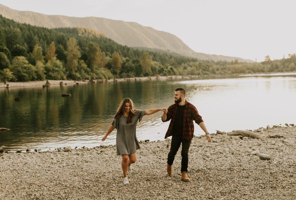 Couples Session at Rattlesnake Lake in Washington