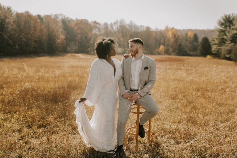 engagement shoot at Briar Patch in Bristol, IN