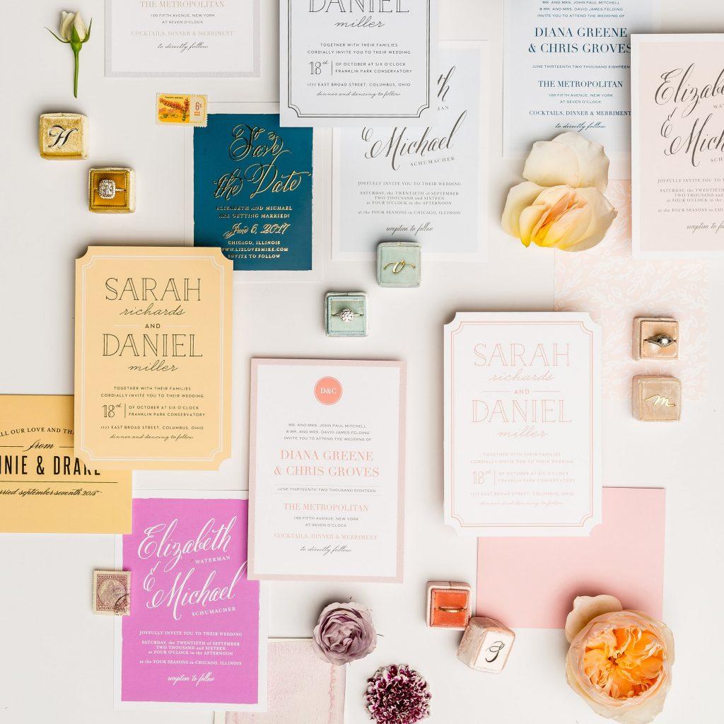 basic invite wedding stationary